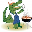 Stock Vector: Grillin Country Gator