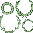 Cactus Wreaths — Stockvektor