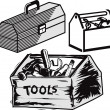 Toolboxes — Stock Vector