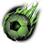 Soccerball Meteor — Stock Vector