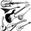Guitar Collection — Image vectorielle