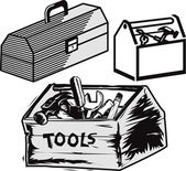 Toolboxes — Stockvector