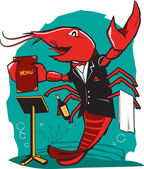 Lobster Maitre D — Stock Vector