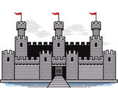 Battlements — Stock Vector