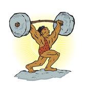 Weightlifting Beast — Stock Vector