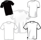 Blank T-Shirts — Stock Vector