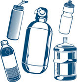 Water Bottle Collection — Stock Vector