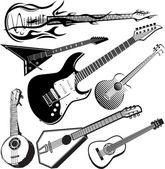 Guitar Collection — Stock Vector