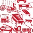 Wagon Collection — Stockvectorbeeld