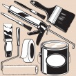 Painting Supplies — Stock Vector