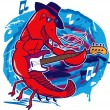 Stock Vector: Jazz Crawfish