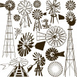 Windmill Collection — Stock Vector