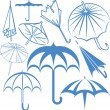 Umbrella Collection — Stock Vector