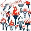 Torch Collection — Stock Vector