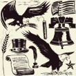 Woodcut Americana — Vetorial Stock #32415219