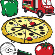 Pizza Clip Art — Stock Vector