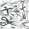 Scissor Collection — Stock Vector