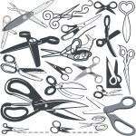 Scissor Collection — Stock Vector