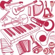 Musical Instrument Collection — Stock Vector