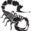 Stock Vector: Black Scorpion