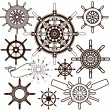 Ship Wheel Collection — Stock Vector