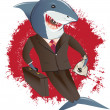 Shark in a Suit — Stock Vector #32417087