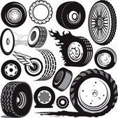 Tire Collection — Stock Vector