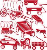Wagon Collection — Vector de stock