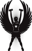 Fitness Angel — Stock Vector