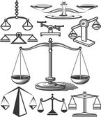 Balancing Scale Collection — Stock Vector