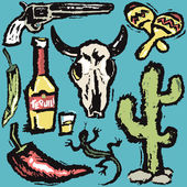 Southwestern Grunge — Stock Vector