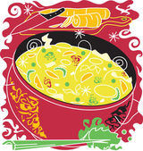 Chicken Noodle Soup — Stock Vector