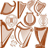 Harp Collection — Stock Vector