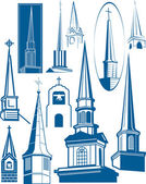 Steeple Collection — Stock Vector