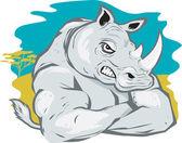 Rhino Tough — Vettoriale Stock