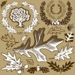 Stock Vector: Oak Leaf Collection