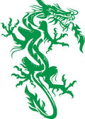 Jade Dragon — Stock Vector