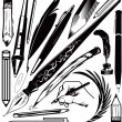 Pens & Pencils — Stock Vector