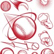 Stock Vector: Baseball Collection