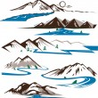Mountains and Rivers — Stock Vector #32896431