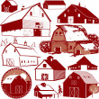 Barn Collection — Stock Vector #32896633