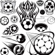 Soccer Ball Collection — Stock Vector