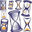 Stock Vector: Hourglass Collection