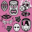 Mask Collection — Stock Vector #32898189