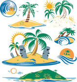 Seven Islands — Stock Vector