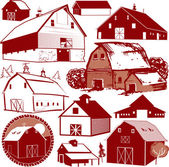 Barn Collection — Stock Vector
