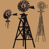 Three Windmills — Stock Vector