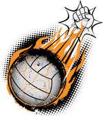 Volleyball Meteor — Stock Vector