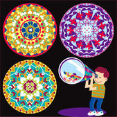 Kaleidoscope Kid — Stock Vector