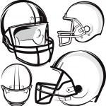 Football Helmets — Stock Vector #32900571